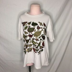 Vintage 90s Zooloo Jungle Birds party Mens Small